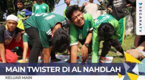 SERU MAIN TWISTER GAME! Bareng Santri Al-Nahdlah di Puncak Bogor