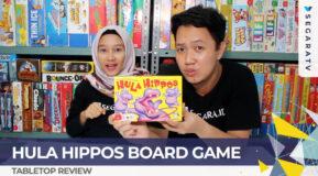 MEMASUKKAN HIPPOS KE DALAM LINGKARAN HULA! Hula Hippos Board Game