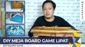 DIY Tutorial Cara Membuat Meja Board Game Lipat Sederhana dan Murah